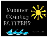 Summer Counting Patterns Cut and Paste