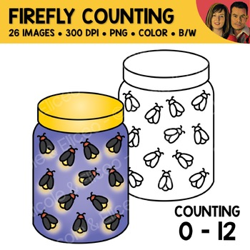 Summer Counting Scene Clipart Bundle