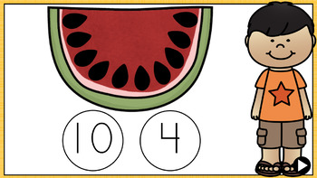 Summer Counting & Subitizing - PowerPoint Games