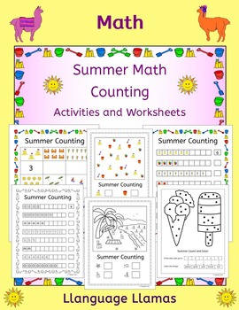 Counting worksheets and activities - summer theme