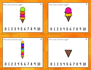 Summer Counting Task Cards