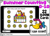 Summer Counting ~ Ten Frames ~ Numbers 0-10 ~ BOOM Cards ~