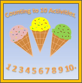 Summer Counting To 10 Activities.