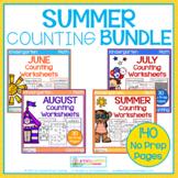 Summer Counting Worksheets for Kindergarten - the BUNDLE!!!