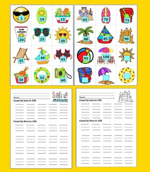 End of the Year Math Activities:  Summer Math Skip Counting for K &  First Grade