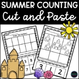 Summer Counting to 10 Cut and Paste Activities