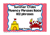 Summer Crabs Sight Word Fluency Phrases Race