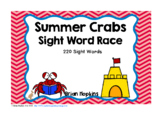Summer Crabs Sight Word Race