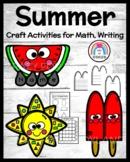 Summer Craft Bundle for Math, Writing Centers: Sun, Popsic