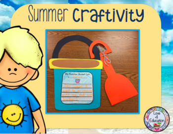 My Summer Bucket List (Summer Craftivity)