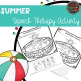 Summer Speech Therapy Activity: Functions