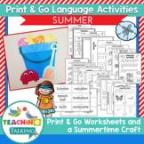 Summer Speech and Language Activities