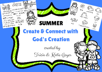 Summer Create & Connect with God's Creation