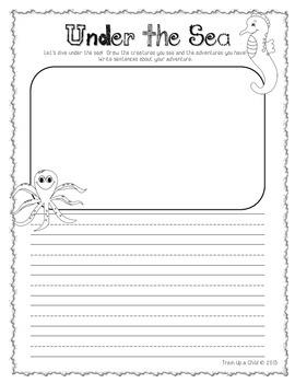 Summer Creative Writing Journal K-2