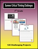 Summer Critical Thinking Challenges (7th Grade)