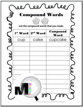 Compound Words - Summer Theme