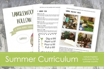 Summer Curriculum; Nature-Based Learning Guide; Ages 3-8