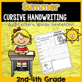 Summer Cursive Writing No-Prep
