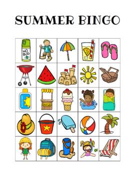 Summer Bingo Custom Printables