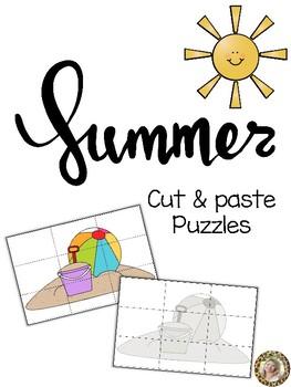 Summer Cut & Paste Puzzles