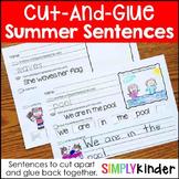 Summer Cut-and-Glue Sentences