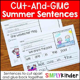 Summer Cut-and-Glue Sentences