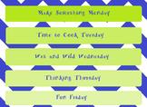 Summer Daily Activities Chart