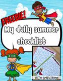 Summer Daily Checklist