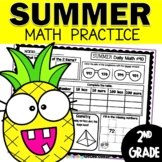 Summer Daily Math Review for Second Grade