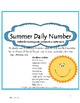 Daily Number--Summer Theme A Daily Activity to Reinforce M