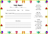 Summer Daily Report Book