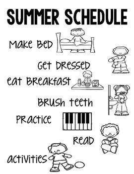 Summer Daily Schedule
