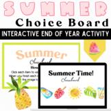 Summer Day & Beach Choice Board: An Interactive Brain Brea