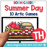 Summer Day: TH Sound BOOM Cards™️  for Distance Learning Speech Therapy