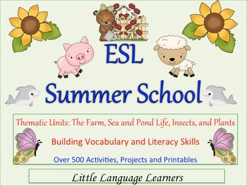 ESL Summer School Thematic Units Full of Fun Learning Activities