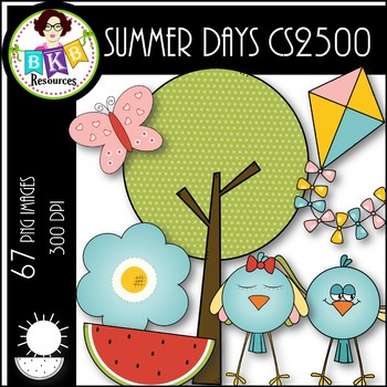 Summer Days CS2500● Clip Art ● Products for TpT Sellers