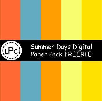 Summer Days Digital Paper Pack FREEBIE