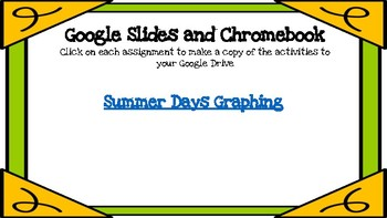 Summer Days Graphing-A Digital Math Center (Compatible with Google Apps)