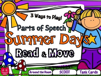Summer Days Read & Move Parts of Speech Grammar Activity Pack