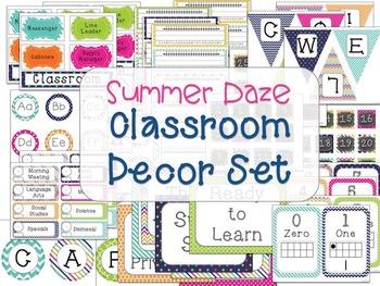 Classroom Decor Set Summer School