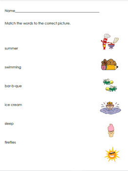 Summer Decodable Booklet