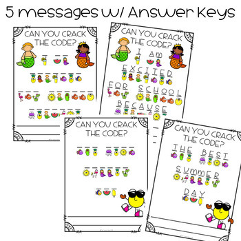 Summer Message Decoder and Writing Prompts FREEBIE