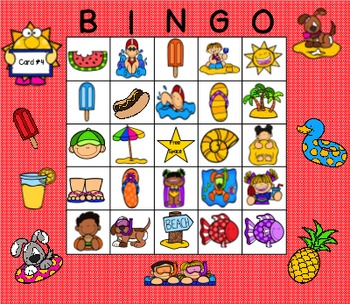 Summer Describing Bingo