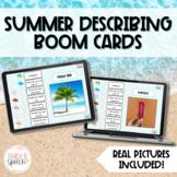 Summer Describing Boom Cards | Speech Language Therapy No