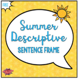 Summer Descriptive Sentence Frame (Freebie)