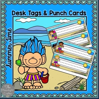 Summer Desk Plates and Punch Cards