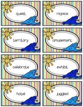 Summer Dictionary Skills Task Cards