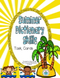 Summer Dictionary Skills Task Cards