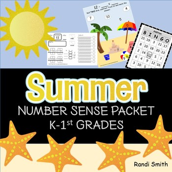 Summer Differentiated Learning Math Packet K and 1st Grade
