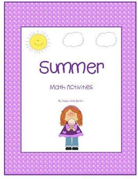 Summer   Differentiated Math Activities